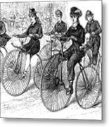 American Bicyclists, 1879 Metal Print