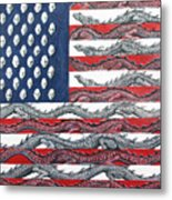 American Conflict Metal Print