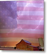 American Country Stormy Night Metal Print