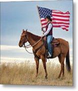 American Cowgirl Metal Print