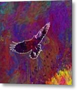 American Crow Flying Ave Fauna  Metal Print