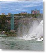American Falls And Rainbow Bridge Metal Print