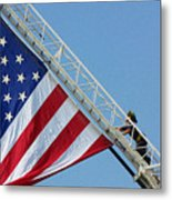 American Firefighter Metal Print