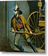American Fireman 1858 Metal Print