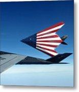 American Flag F 117 Nighthawks Metal Print
