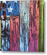 American Flag Gate Metal Print