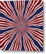 American Flag Kaleidoscope Abstract 6 Metal Print