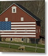 American Flag Painted On The Side Metal Print
