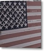 American Flag Shop Metal Print
