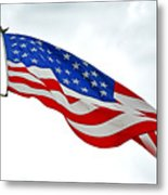 American Flag With Eagle Metal Print