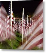 American Flags Tribute To 9-11 Metal Print