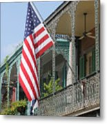 American French Quarter Metal Print