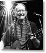 American Icon - Willie Nelson Metal Print