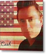American Icon Johnny Cash Metal Print