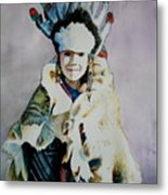 American Indian Girl Metal Print
