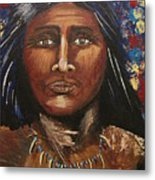 American Indian Portrait Metal Print