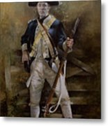 American Infantryman C.1777 Metal Print by Chris Collingwood