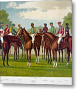 American Jockeys, 1889 Metal Print
