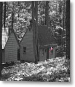 American Little House In The Woods Metal Print
