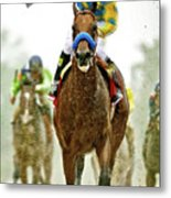 American Pharoah And Victor Espinoza Win The 2015 Preakness Stakes. Metal Print