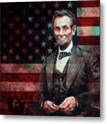 American President Abraham Lincoln 01 Metal Print