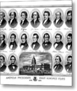 American Presidents First Hundred Years Metal Print by War Is Hell Store