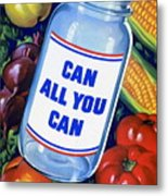 American Propaganda Poster Promoting Canned Food Metal Print