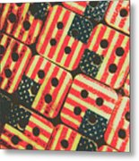 American Quilting Background Metal Print