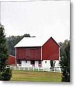 American Red Barn II Indiana Metal Print