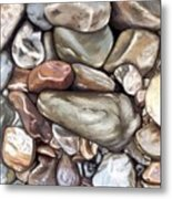 American River Rocks Metal Print