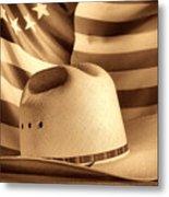 American Rodeo Cowboy Hat Metal Print