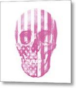 American Skull Pink Metal Print