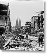 American Soldiers In Cologne, Germany Metal Print