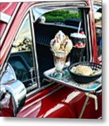 Americana - The Car Hop Metal Print by Paul Ward