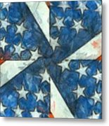 Americana Abstract Metal Print