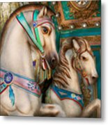 Americana - Carousel Beauties Metal Print
