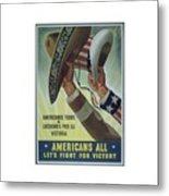 Americans All Metal Print