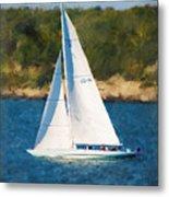 America's Cup 12 Meter Sailboat Newport Ri Metal Print