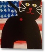 Americat Cat Butt Metal Print