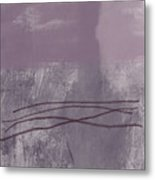 Amethyst 1- Abstract Art By Linda Woods Metal Print