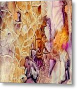 Amethyst And Copper 1 Metal Print