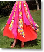 Ameynra Belly Dance Fashion - Multi-color Skirt 93 Metal Print