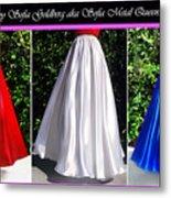Ameynra Design. Satin Skirts - Red, White, Blue Metal Print