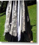 Ameynra Fashion Gothic Skirt With Lace Metal Print
