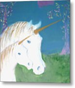 Amid The Unicorns Metal Print
