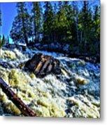 Amincon River Rootbeer Falls Metal Print