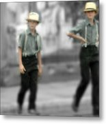 Amish Brothers Metal Print