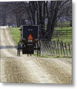 Amish Buggy March 2016 Metal Print