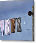 Amish Clothesline Metal Print