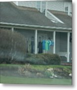 Amish Clothing Hanging To Dry Metal Print